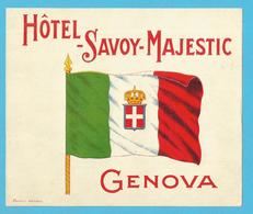 ETIQUETTE HOTEL SAVOY MAJESTIC GENOVA (12.5 X 10.5 Cm) - Hotel Labels