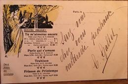 CPA, Illustrateur, Série Succès Oblige, 4 Chansons, Danses, Valses, Polka, (Gallet , éditeur De Musique, Paris 2), 1902 - Illustrateurs & Photographes