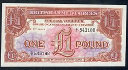 GREAT BRITAIN  PM29 1 POUND   1956    UNC. - Forze Armate Britanniche & Docuementi Speciali