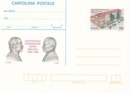 Italy CP 86 1993 Cartolina Postale Centenario Fondazione OMAR,mint - 6. 1946-.. Republic