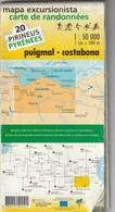 Mapa Excursionista - Carte De Randonnées - Puigmal - Costabona - 2 Reiimpressió / Réimpression 01 2005 - Usado / Utilisé - Mapas Topográficas