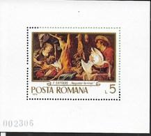 ROMANIA - 1970 - F. SNYDERS -  FOGLIETTO NUOVO ** NH (YVERT BF 79 - MICHEL 78) - Arte