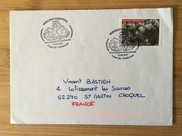 Premier Jour Visite De Gaulle Avec Cachet Maria Assumpta 2017 - Andorre Français