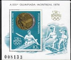 ROMANIA - 1976 - GIOCHI OLIMPICI ESTIVI MONTREAL - CANOTAGGIO -  FOGLIETTO NUOVO ** NH (YVERT BF 127 - MICHEL 137) - Estate 1976: Montreal