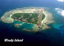 Paracel Islands Woody Island Yongxing Aerial View New Postcard - China