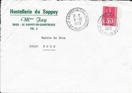 ISERE 38  -  LE SAPEY EN CHARTREUSE  -  CACHET RECETTE DISTRIBUTION RD B9 - 1973  -  CATALOGUE A. LAUTIER - Bolli Manuali
