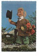 REF 378 : CPSM Loup Wolf Offrant Des Fleurs Parapluie - Dieren