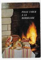 (RECTO / VERSO) POULE FARCIE BORDELAISE - N° 1707 - CPSM GF VOYAGEE - 75 - Küchenrezepte
