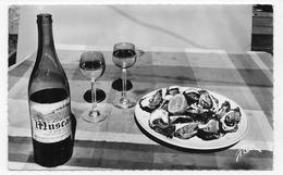(RECTO / VERSO) POUR LES GOURMETS EN 1965 - N° 9951 - HUITRES ET MUSCADET - FORMAT CPA VOYAGEE - 17 - Küchenrezepte