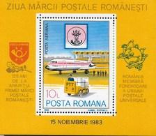 ROMANIA - 1983 - GIORNATA DEL FRANCOBOLLO  -  FOGLIETTO NUOVO ** NH (YVERT BF 161- MICHEL 195) - Giornata Del Francobollo