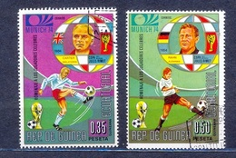 Z-GQ   1973 .Mi 308, 311  ......Footballer.. - Äquatorial-Guinea