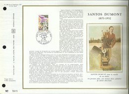 N° 238 S DU CATALOGUE CEF. N°: 55 /SOIE. SANTOS DUMONT . 26 MAI 1973 . LE BOURGET . - FDC