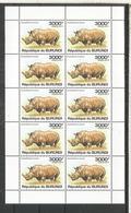 BURUNDI HOJITA RINOCERONTE RHINO FAUNA - Rinocerontes