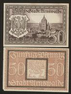 Notgeld Arnswalde 50 Pf 1921 - [11] Lokale Uitgaven