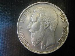 Belgium  5 Fr 1868 RRR - 1865-1909: Leopold II