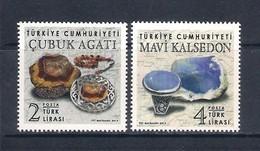 Turchia Turkey [2019] Minerals; Precious Stones - Set Of 2 Stamps (MNH) - Minerali