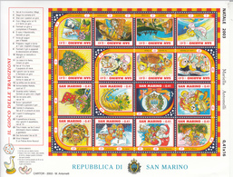 2003 San Marino Christmas Noel Navidad Souvenir Sheet  MNH  **BELOW FACE VALUE *** - San Marino