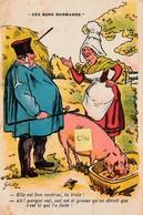 """Galry """"Ces Bons Normands"""" -Elle Est Ben Ventrue,ta Truite! Ah! Parqué Oui,oul Est Si Grasse Qu'on Dirait Que C'est Té... - Illustrateurs & Photographes"""