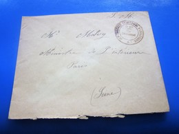 Saintes WW1☛Cachet Militaire Commandant 137é RI Territoriale 2é B.Guerre 14/18 Lettre F.M☛Malvy-Ministre Interieur PARIS - Postmark Collection (Covers)