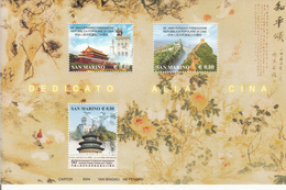 2004 San Marino Links With China  Complete Souvenir Sheet  MNH  **BELOW FACE VALUE *** - San Marino