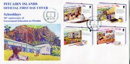 Pitcairn Islands 1999 Development Of Local Education FDC (SG 543-547) - Briefmarken