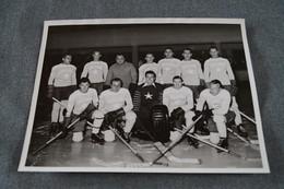Ancienne Photo Originale Hockey Sur Glace,étoile Du Nord,RARE Dédicaces,24 Cm. / 18 Cm. - Sports