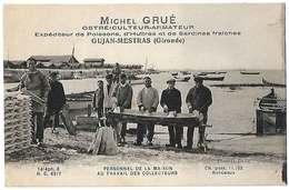 33 Gujan-Mestras Michel Grué Ostreiculteur Armateur Personnel Au Travail TB Animée éditeur G.Badia Dos Scanné - Gujan-Mestras