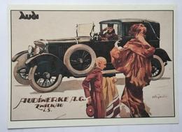 (867) Audiwerke A.G. - P.A.R.C.-Archiv-Edition - Chauffeur Salueert - Dame Met Een Bontjas. - Publicité