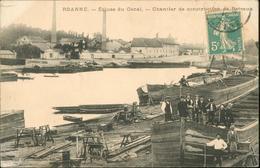 Ecluse Du Canal - Chantier De Construction De Bateaux - Roanne