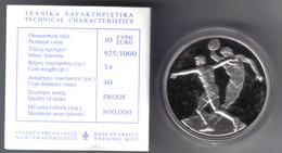 GRECIA 2004 OLIMPIADI DI ATENE 10 € PROOF LANCIO DEL DISCO IN CONFEZIONE - Grecia