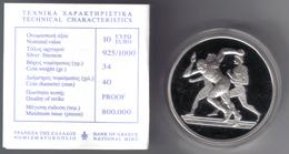 GRECIA 2004 OLIMPIADI DI ATENE 10 € PROOF CORSA IN CONFEZIONE - Grecia