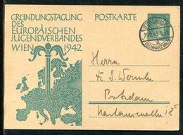 """Deutsches Reich / 1943 / Sonderpostkarte """"Europaeischer Jugendverband"""" Steg-Stempel St.Blasien (23565) - Deutschland"""