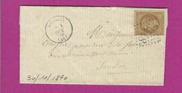 FRANCE Lettre De SOUILLAC LOT Port Locale 1870 - Storia Postale