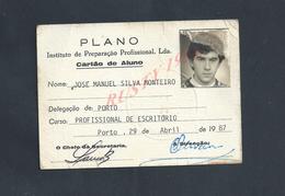 PORTUGAL CARTE D ELEVE EDUCATION PREPARACAO PROFISSINAL PORTO : - Cartes