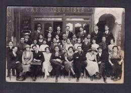 Carte Photo Bizon Bobigny (93) Devanture Animée Cafe Liquoriste Restaurant - Bobigny