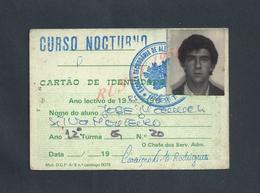 PORTUGAL CARTE D ELEVE EDUCATION CURSO NOCTURNA 1985 : - Cartes