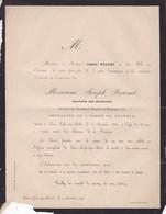 SAINT-JOSSE Graveur Des Monnaies Joseph BRAEMT 68 Ans 1864 Membre Académie Royale De Belgique Faire-part Décès - Décès