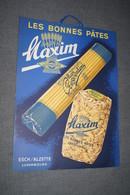 RARE,Ancienne Publicité Originale,les Bonnes Pâtes Maxim,Esch/Alzette Luxembourg,34 Cm. Sur 25 Cm. - Advertising (Porcelain) Signs