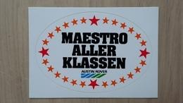 Aufkleber Mit Auto-Werbung Und Darstellung Von Sternen (Austin Rover; Deutschland) - Stickers