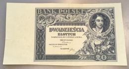 "Poland 1931 20 Zlotych Uniface Proof Banknote P.73 ""BANK POLSKI"" (Pologne Polen Billet Geldschein - Polonia"