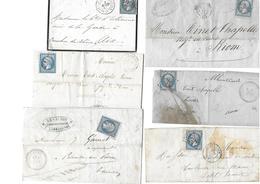 Lot De 15 Lettres Bien Type Napoléon , Cérès Et Une Taxé 1859 à 1873 - Marcophilie (Lettres)