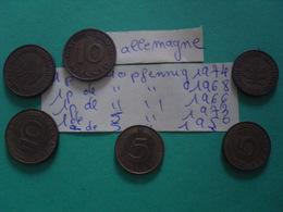 6 Pièces Divers Allemagne - Münzen & Banknoten