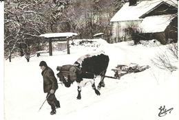( LES VIEUX METIERS )( FERMES )( LE  CHASSE NEIGE  )( 88 VOSGES )( ATTELAGE ) - Bauernhöfe