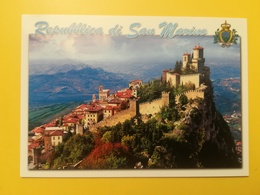CARTOLINA POSTCARD ITALIA ITALY SAN MARINO NUOVA PANORAMA ROCCA CENTRO STORICO REPUBBLICA - San Marino