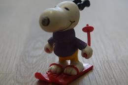 Vintage FIGURE : United Feature Peanuts Snoopy Skis - 1966 - RaRe  - Figuur - Non Classés