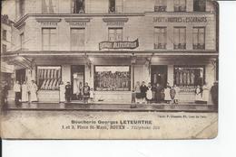 ROUEN   Boucherie Leteurtre  Place St Marc  Carte Moy - Rouen