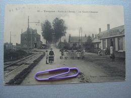 TERGNIER : Route De CHAUNY, Les Quatres-chemins En 1910 - France
