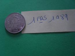 Pièce De  1fr - Monedas & Billetes