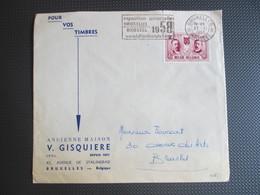 1016 - Culturele - Lodewijk De Raedt - Op Brief Binnen Brussel - Vlagstempel EXPO 58 - Belgium
