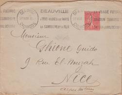 ENVELOPPE TIMBRE 1928 DEAUVILLE - Marcophilie (Lettres)